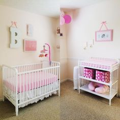 Simple, chic pink baby girl nursery