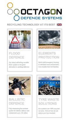 Octagon Defence - Flood Defence, Element Protection, Ballistic Containment - all from 100% recycled waste car tyres