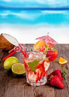 Stock Photo : summer drink