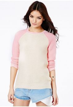 Magicita Long Sleeve Contrast Jumper - Knitwear - Jumpers - Missguided