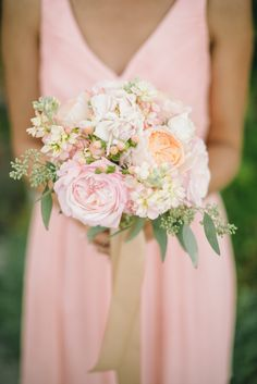 Photography: Delbarr Moradi Photography - delbarrmoradi.com Read More: http://www.stylemepretty.com/2014/10/09/romantic-outdoor-affair-in-a-sea-of-pastel/
