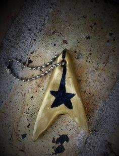 Star Trek Insignia Keychain Star Trek by CarrieLeeCuriosity