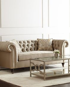 Pepper Tufted Sofa by Candice Olson at Neiman Marcus.