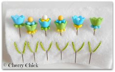Flower Decorative Pins  Fancy Pins  Sewing Pins  by CherryChick