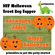 DIY printable Halloween Treat Bag toppers