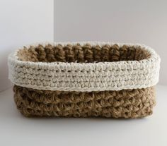 Easy Crochet Jute Basket Pattern