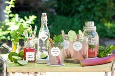 The Rhubarb Mojito Cocktail and Mocktail