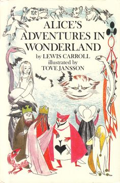 Tove Jansson's Rare Vintage Illustrations for Alice in Wonderland Down the rabbit-hole, Moomin-style.