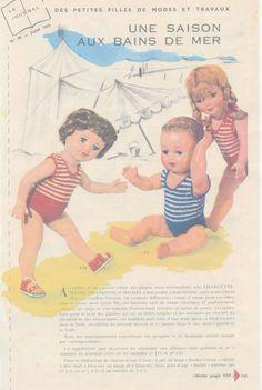 Les pieds dans l'eau, modéle des maillots de bain de Marie francoise…