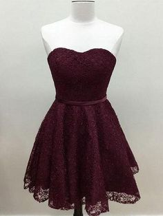 short prom dress, A-Line homecoming dress, sweetheart party dress, grape cocktail dress 0569 by RosyProm, $110.99 USD