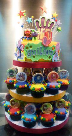 Hi 5 Cupcake Tower 5th Birthday Party Ideas