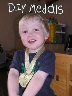 Getting ready for the Olympics - Medals from Rainy Day Mum