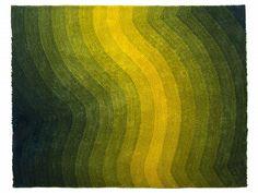 Szőnyeg - Shaggy - Poliészter - Sárga - Zöld - 200x230 cm - EFEZ_675272