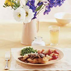 Balsamic Mushroom Chicken #myplate #protein #vegetables