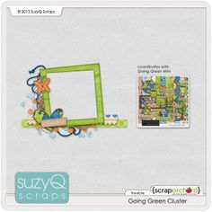 Scrapbooking TammyTags -- TT - Designer - Suzy Q Scraps,  TT - Item - Frame, TT - Style - Cluster