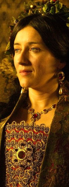 Maria Doyle Kennedy as Queen Catherine of Aragon in The Tudors, 2007.