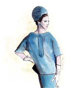 NEW - Dior Vintage - #fashion illustration #illustration #couture
