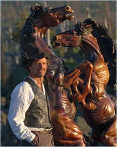 Skip Armstrong with Horses