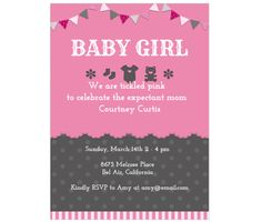 Download this Baby Girl Invitation Card and other free printables from MyScrapNook.com