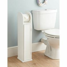 White Wood Standing Toilet Paper Roll Holder Bathroom Storage Cabinet for sale online Toilet Roll Holder White, Toilet Roll Holder Storage, Wooden Toilet Paper Holder, Free Standing Toilet Paper Holder, Toilet Paper Stand, Bathroom Flooring, Bathroom Furniture, Wooden Bathroom, Bathroom Cabinets