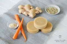 Spring Carrot & Lemongrass Ginger Soap (Cold Processed)