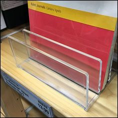 Gain store presence with this Shelf-Top Acrylic Stand For Moleskin Journals. Yes, Moleskine could lay flat, or stand in cheap corrugated shelf-top cartons Moleskine, Shelves, Journal, Journals, Notebook, Shelving, Shelf, Journal Entries, Open Shelving