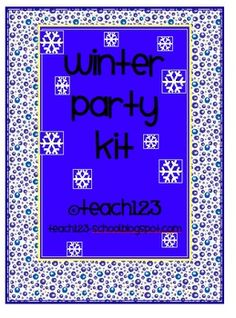 This has everything you need to plan your winter party!  Kit includes:*Letter to parents*Winter BINGO cards*Signs to post at your winter part...