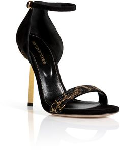Love this: Embellished Suede Sandals @Lyst