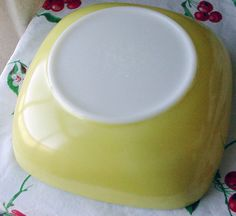 Vintage Pyrex Square Casserole Bowl  2 1/2 QT Yellow Serving dish Primary Yellow 1950s Pyrex