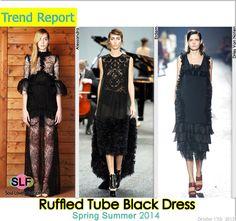 Ruffled Tube #Black #Dress #FashionTrend for Spring Summer 2014 #fashiontrends2014 #spring2014 #trends #ruffles