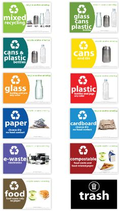 Free Printable Recycling Bin Labels From Jinjerup Com