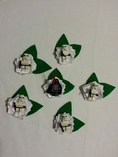 Wedding Geek Nerd Lego Boutonniere ~ Star Wars set of 6 ~ Darth Vader & Stormtroopers on Etsy