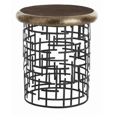 brass and iron side table