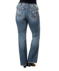 aa38c97c Silver Jeans Co. Indigo Medium Flap Pocket Curvy Suki Bootcut Jeans - Women  & Plus