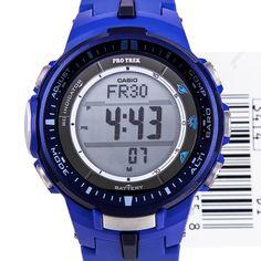 Chronograph-Divers.com - Casio Pro Trek Blue Tough Solar Mens Watch PRW-3000-2BDR PRW3000, $204.00 (http://www.chronograph-divers.com/prw-3000-2bdr/)
