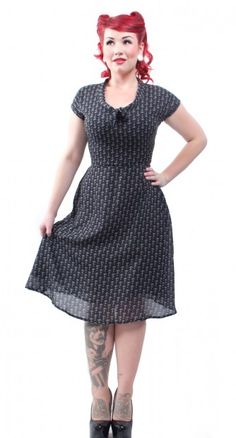 Tie Me Up Anchor Dress - Curvy - Womens | Blame Betty