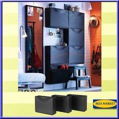 Hallway Shoe Storage, Ikea Shoe Cabinet, Locker Storage, Garage Organisation, Organization Ideas, Hacks Ikea, Ikea New, Home Improvement, Sweet Home