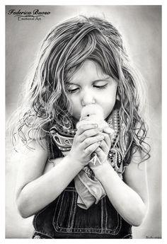 """""""Kiss"""" - matita su cartoncino Fabriano Artistico 33x48 tratto da """"ljHolloway-photography"""""""