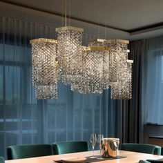 Italian Smoky Swarovski Crystal Brass Contemporary Chandelier at Juliettes Interiors. Modern Lighting Design, Contemporary Interior Design, Luxury Interior Design, Interior Design Inspiration, Luxury Chandelier, Contemporary Chandelier, Modern Lamps, Chandeliers, Luxury Dining Room