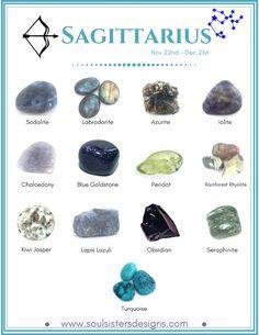 Sagittarius Healing Crystals by Soul Sisters Designs