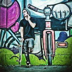 portrait portraits portrait photography portrait photographer lifestyle photography lifestyle photographer mural skateboard skate life skate lifestyle © Brandon Peters Photography