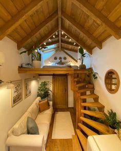 Tiny House Loft, Tiny House Living, Tiny House Plans, Tiny House Design, Tiny Houses, Tiny House Movement, Cabin Homes, Future House, Nature Adventure