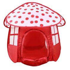 ポータブル赤子供キッズ遊びテント屋外ガーデン折りたたみ玩具テント子供女の子キノコ形状屋外ハウス子供ゲームテント