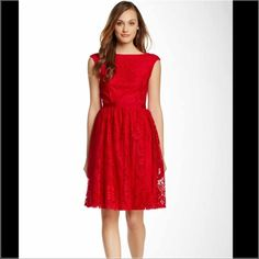Maggy London red lace dress Brand new. Size 4. Lace Maggy London Dresses