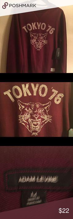 Adam Levine Sweatshirt Tokyo 76 M NWT Adam Levine Sweatshirt Tokyo 76 M NWT Burgundy Adam Levine Collection Shirts Sweatshirts & Hoodies