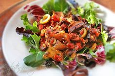 Gluten-Free Goddess Recipes: Ratatouille On Broiled Polenta with Baby Greens