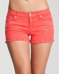 Fave summer treat: Candy colored denim. {bebe Cutoff Colored Denim Short}