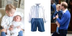 duchesskate:  Prince George and Princess Charlotte, photo by the Duchess of Cambridge.  For their photo session, each sported a lovely ensemble:  George repeated the Rachel Riley's Cord Short and Shirt Set and Amaia socks and Start-Rite 'Jo' navy shoes that he wore with his father during his first visit to meet his sister.  Princess Charlotte was dressed in a hand-knit sweater set by Spanish brand Irulea, purchased by the mother of nanny Maria Teresa Turrion Borrallo.