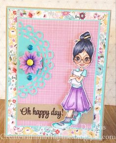 Saturated Canary Oh Happy Day Card