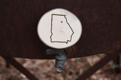 Georgia!  Specialized for any Bulldog lover!  Personalized State Ornaments by MuleTownFarm on Etsy, $8.00